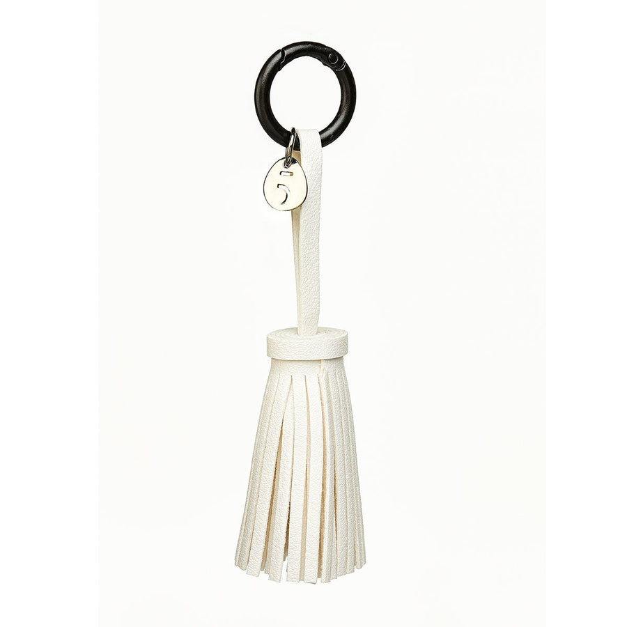 Key Holder White Leather