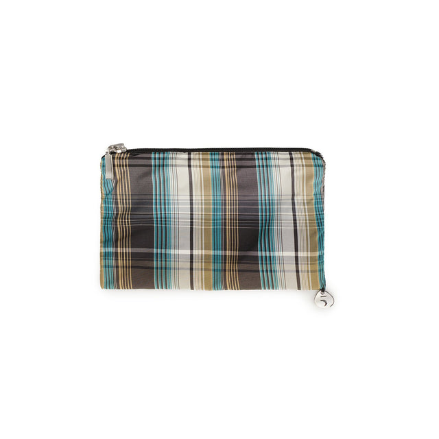 Wallet for women Checkered Turquoise, Extra Small