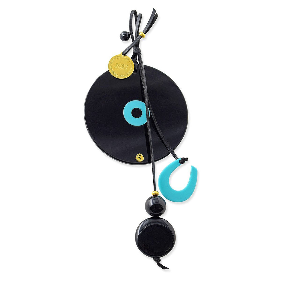 The Everlucky Black Disc & Evil Eye - 2021 Charm