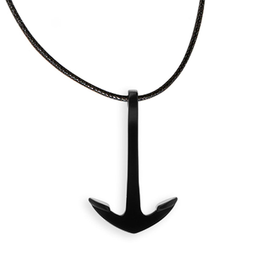 The Essential Rock Anchor Black Coated 925° Necklace