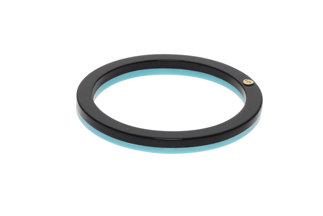 The Eclectic Bangle Black & Turquoise