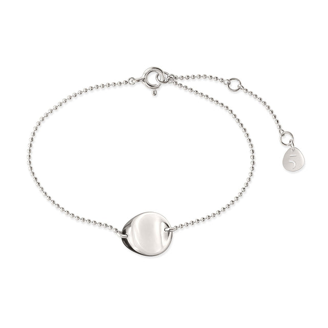 THE ESSENTIAL COIN SILVER BRACELET