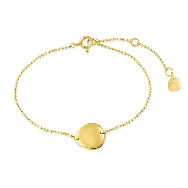 THE ESSENTIAL COIN GOLD PLATED BRACELET