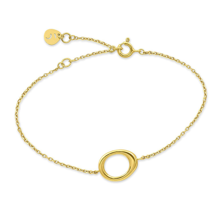 THE ESSENTIAL SMALL OUTLINE GOLD PLATED BRACELET