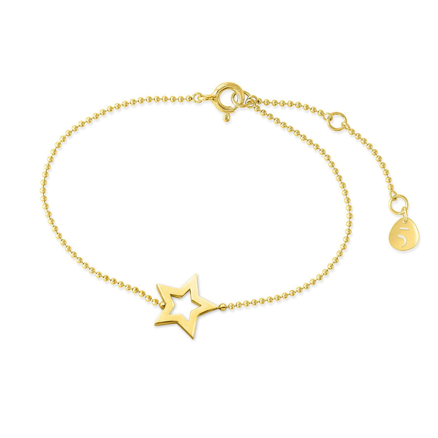 The Essential Mini Line Star 18K Gold Plated Silver 925° Bracelet