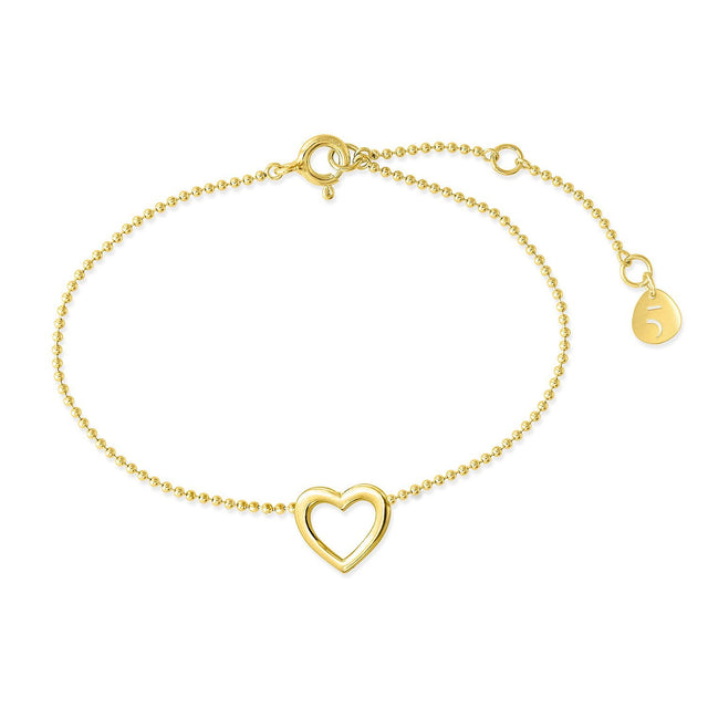 THE ESSENTIAL MINI HEART GOLD PLATED BRACELET