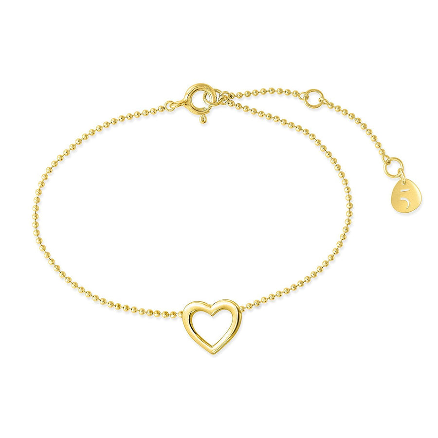The Essential Mini Line Heart 18K Gold Plated Silver 925° Bracelet