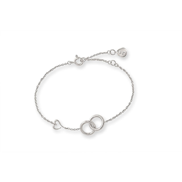 THE LOVE'S A-ROUND HEART SILVER BRACELET