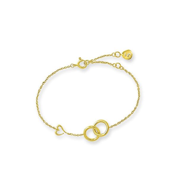 THE LOVE'S A-ROUND CIRCLES GOLD PLATED BRACELET