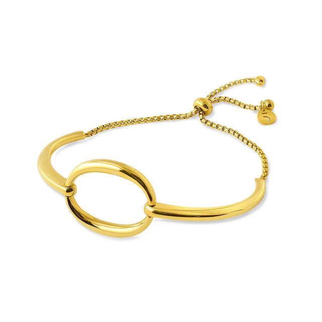 THE ESSENTIAL OMICRON GOLD PLATED BRACELET