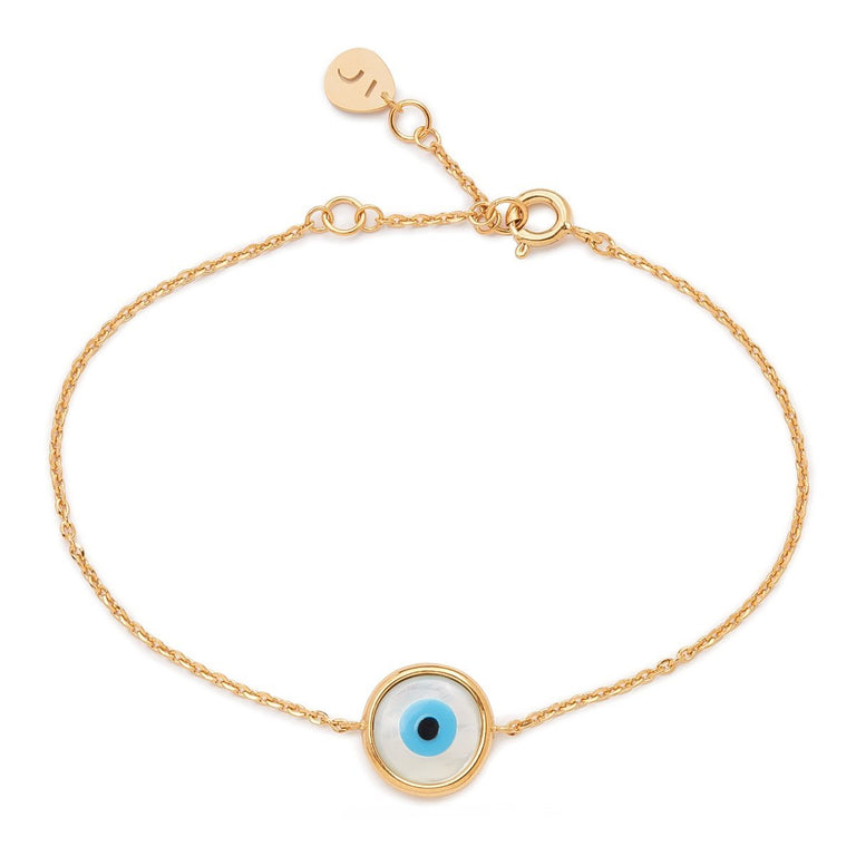 The Everlucky Round Evil Eye Gold Plated Bracelet
