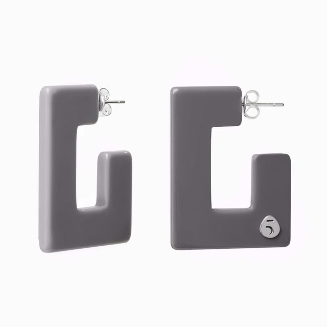 "The Eclectic ""G"" Grey Earrings"