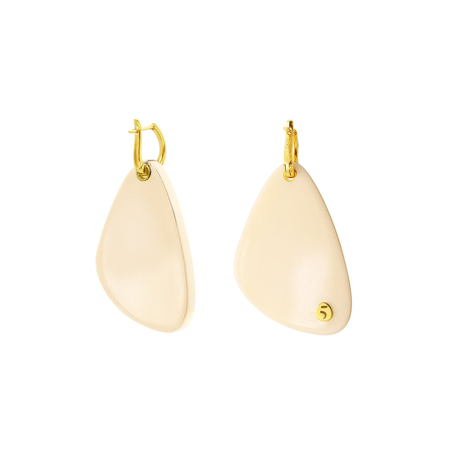 The Eclectic Irregular Small Ivory Earrings
