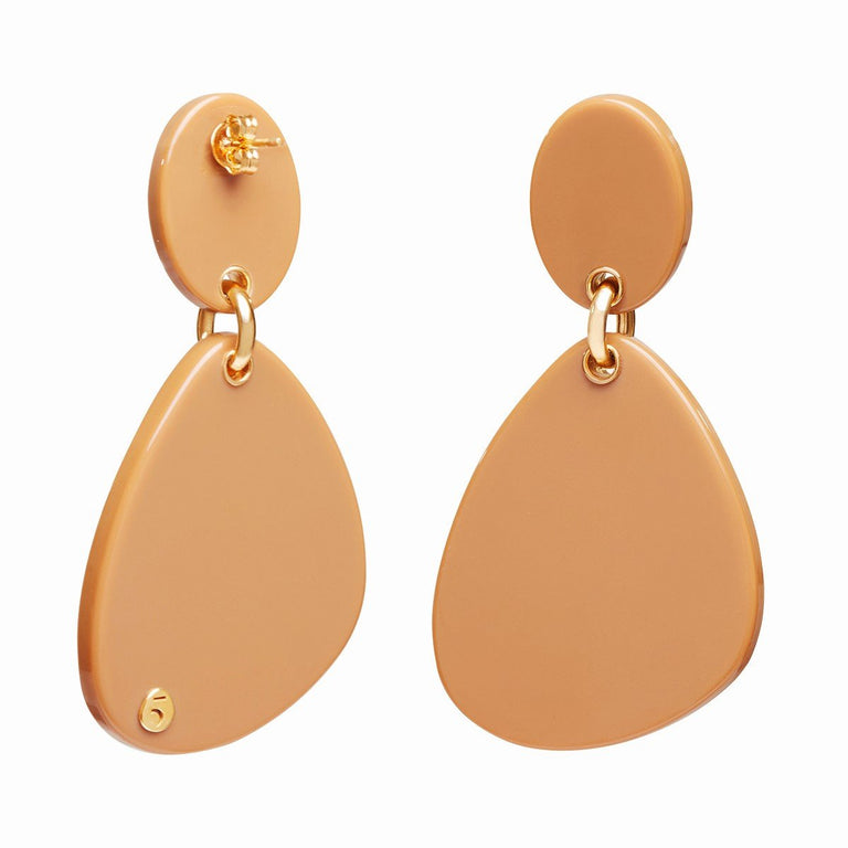 The Eclectic Irregular Double Camel Earrings