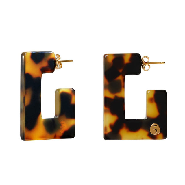"The Eclectic ""G"" Tortoise Earrings"