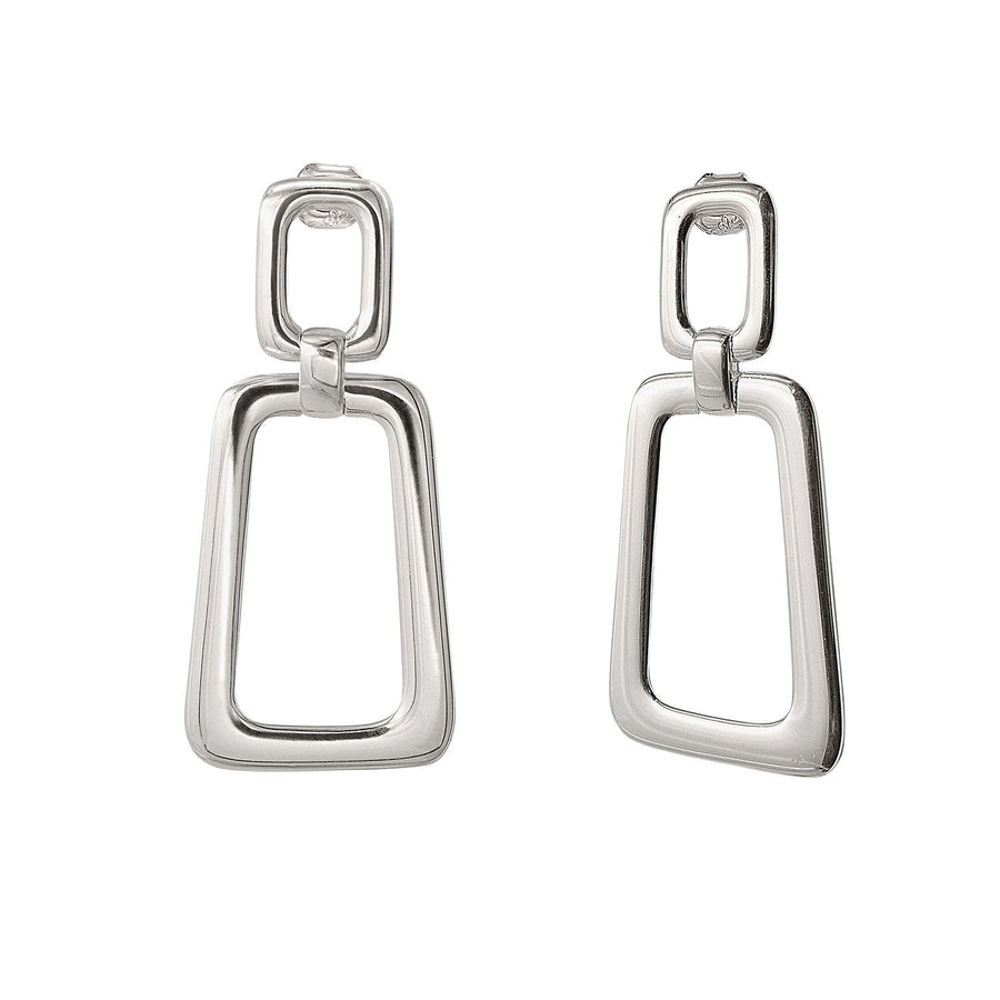 The Essential Forms Trapezoid Silver 925° Earrings