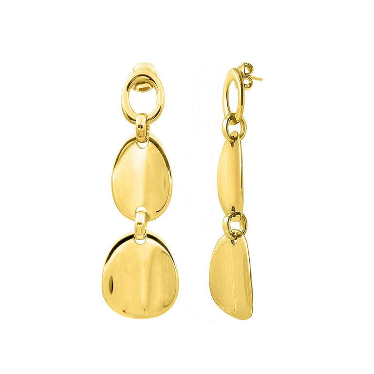THE ESSENTIAL DOUBLE COIN GOLD PLATED EARRINGS