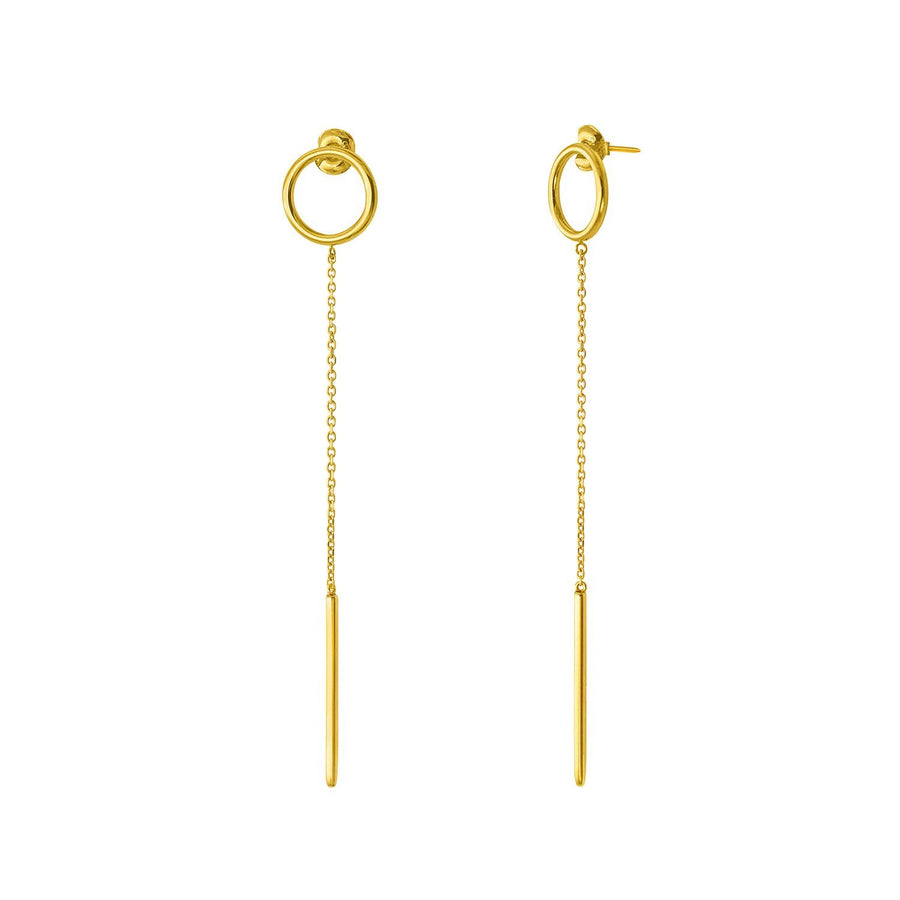 The Essential Kyklos Chain with Bar 18K Gold Plated Silver 925° Earrings