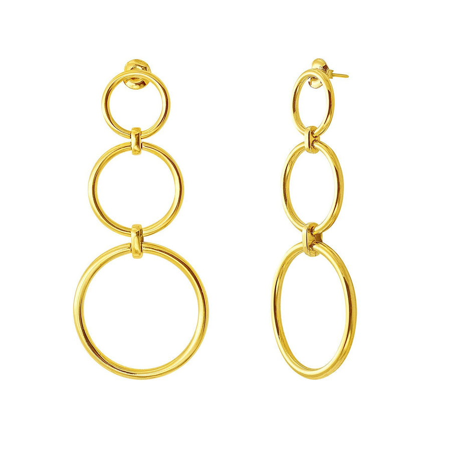 The Essential Kyklos Triple 18K Gold Plated Silver 925° Earrings