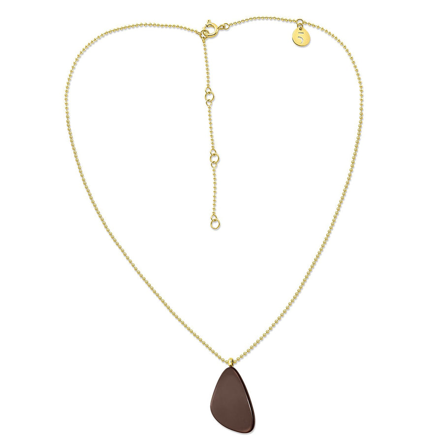 The Eclectic Irregular Chained Brown Necklace