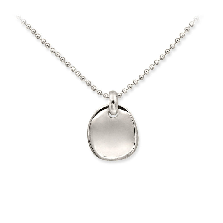 THE ESSENTIAL SMALL COIN SILVER NECKLACE