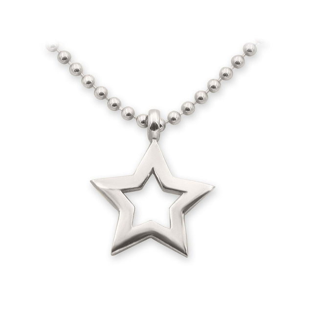THE ESSENTIAL MINI STAR SILVER NECKLACE