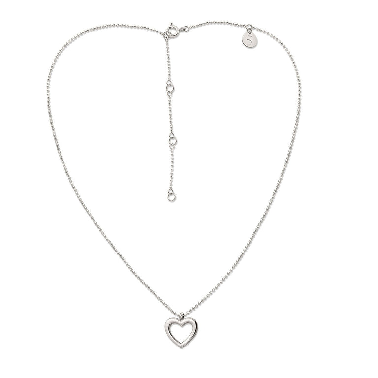 THE ESSENTIAL MINI HEART SILVER NECKLACE