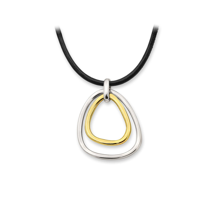 The Essential Double Triangle 18K Gold Plated Silver 925° & Silver 925° Necklace