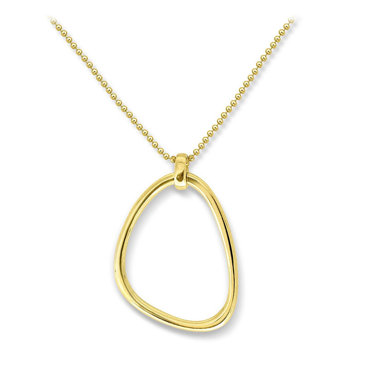 THE ESSENTIAL MEDIUM TRIANGLE GOLD PLATED NECKLACE
