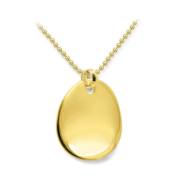 THE ESSENTIAL MEDIUM COIN GOLD PLATED NECKLACE