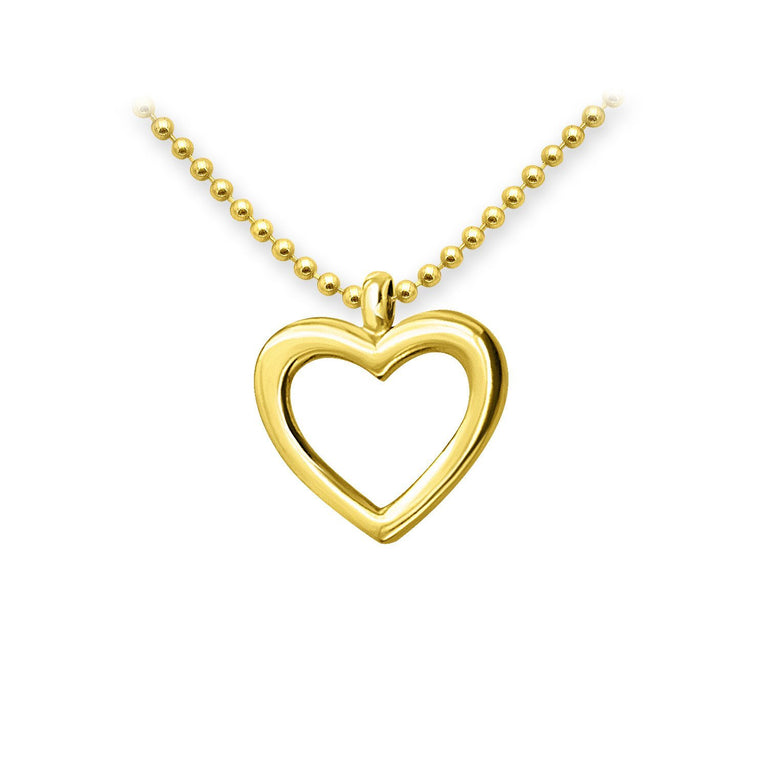 THE ESSENTIAL MINI HEART GOLD PLATED NECKLACE