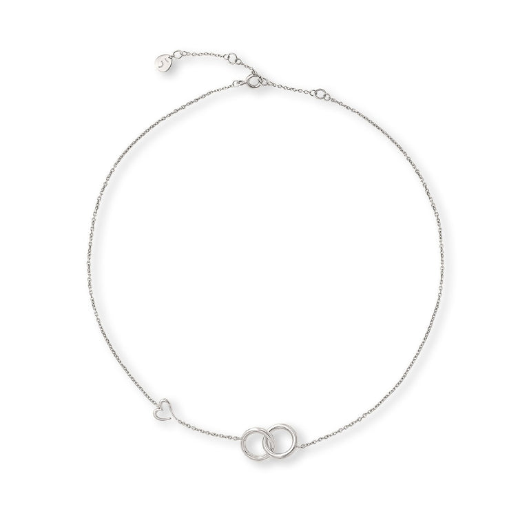 THE LOVE'S A-ROUND BOND CIRCLES SILVER NECKLACE