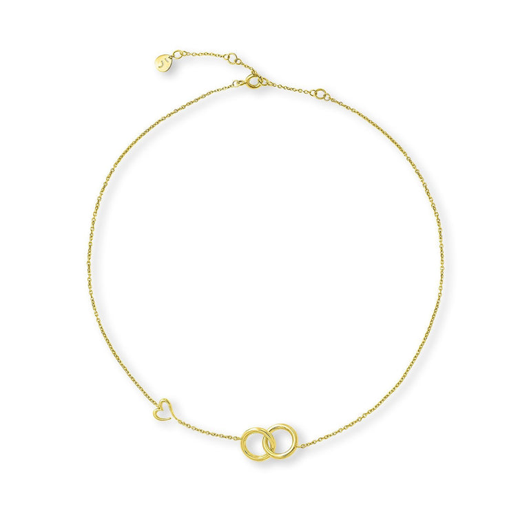THE LOVE'S A-ROUND BOND CIRCLES GOLD PLATED NECKLACE
