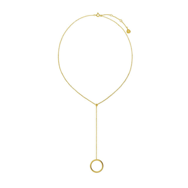 The kyklos long Gold Plated Necklace