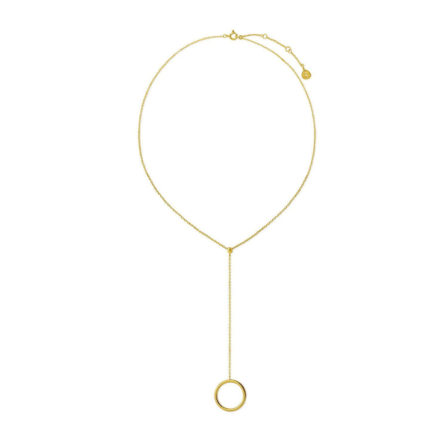The Essential Kyklos Drop 18K Gold Plated Silver 925° Necklace