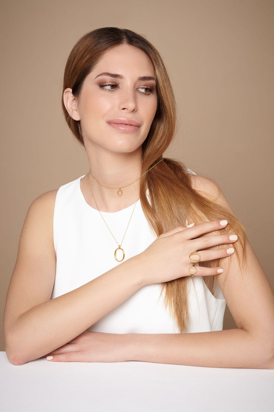 The Essential Omicron Mini 18K Gold Plated Silver 925° Necklace