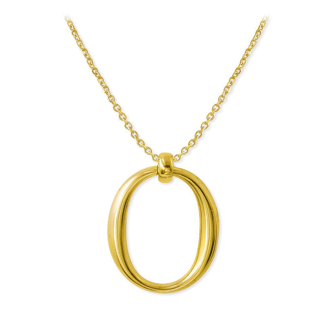 THE ESSENTIAL OMICRON GOLD PLATED NECKLACE