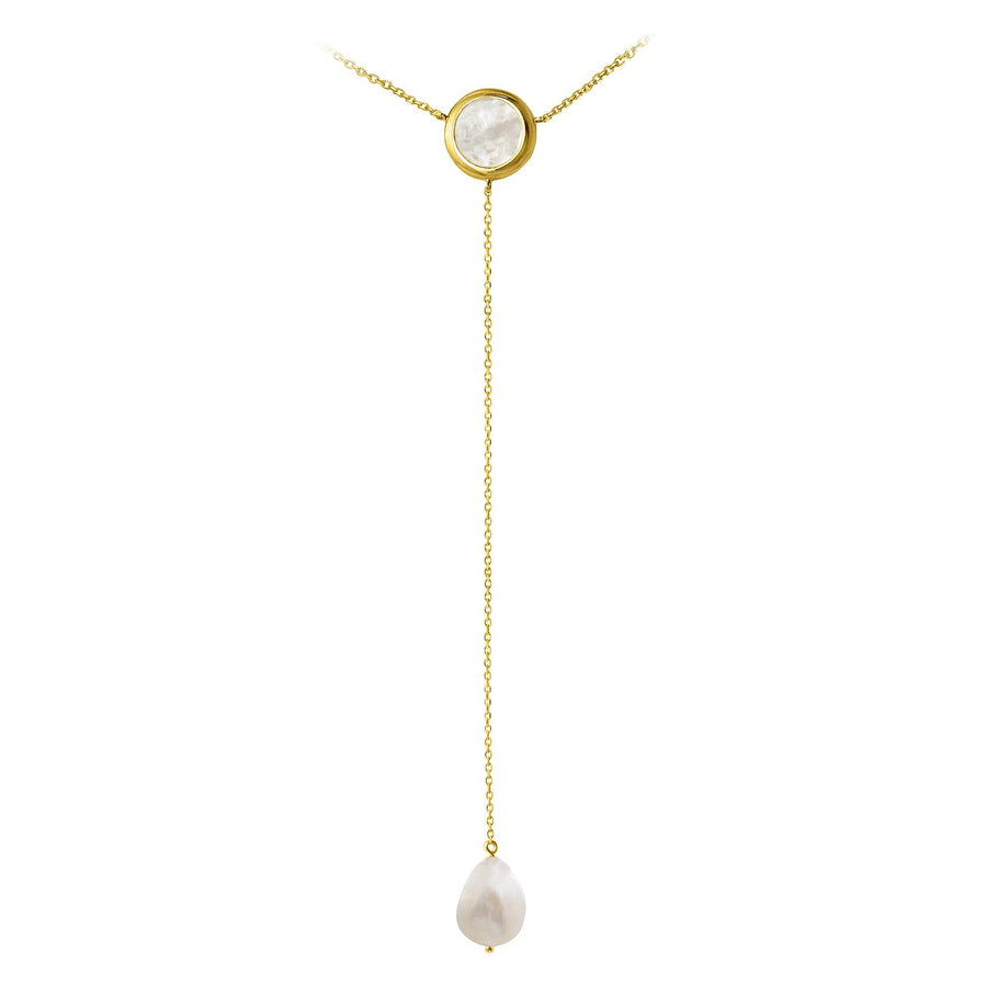 The Enriched Selene Drop 18K Gold Plated Silver 925° Necklace