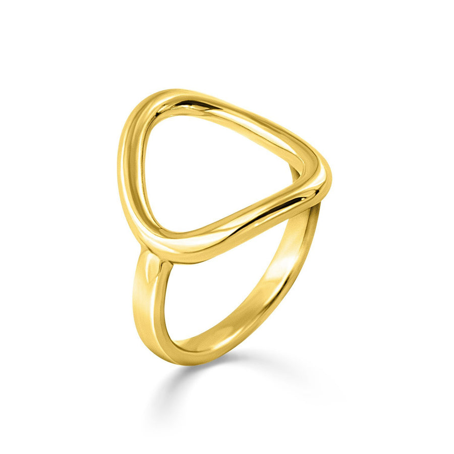 The Essential Forms Irregular 18K Gold Plated Silver 925° Ring