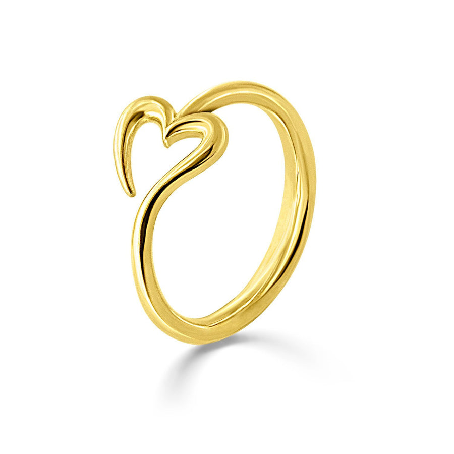 The Essential Love's A-Round Heart 18K Gold Plated Silver 925° Ring