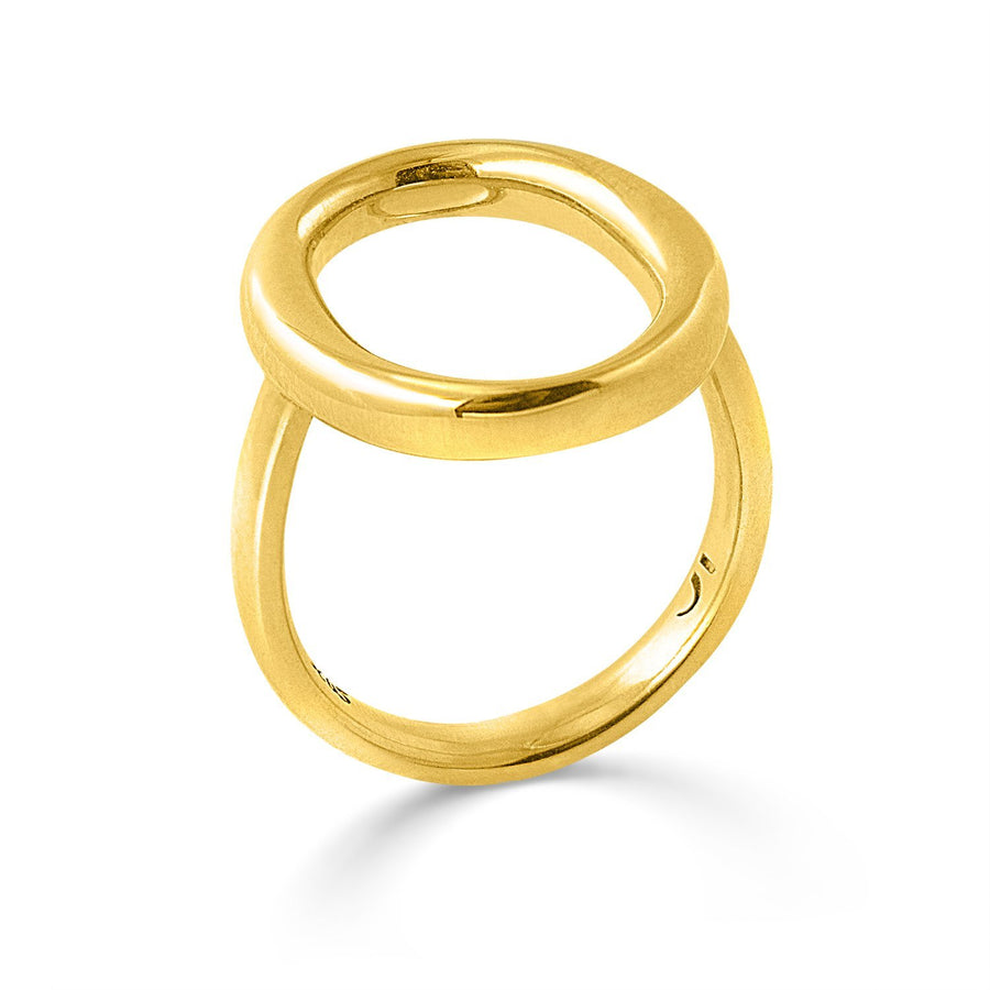 The Essential Omicron 18K Gold Plated Silver 925° Ring