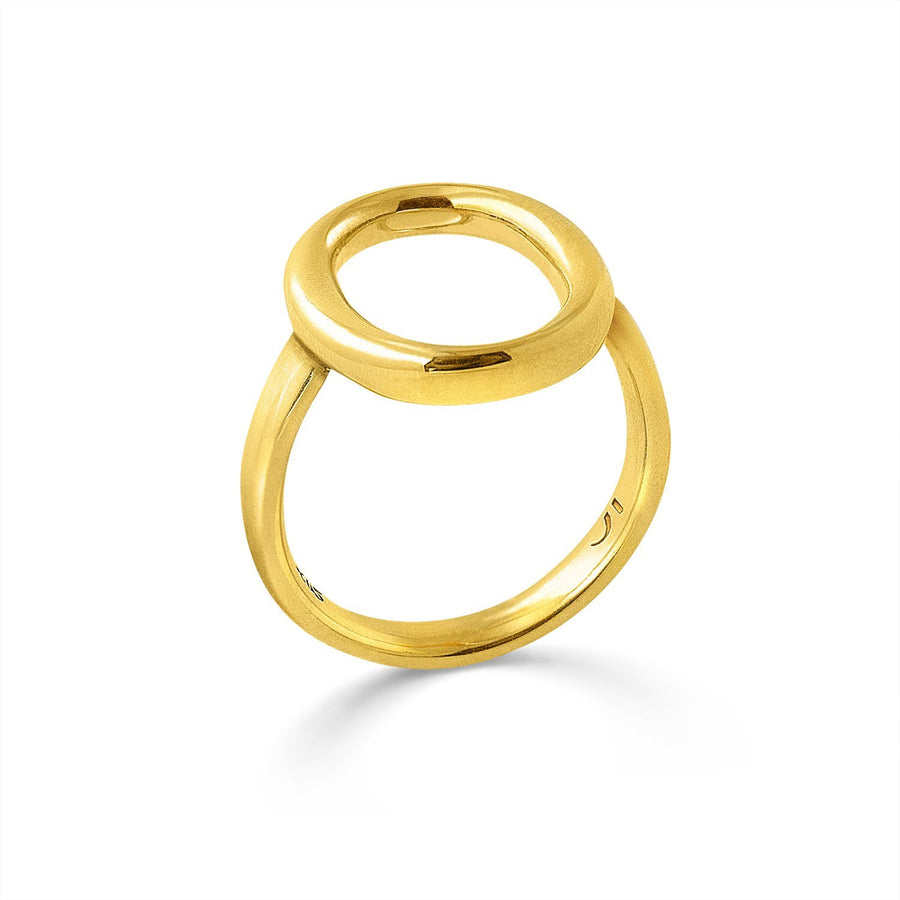 The Essential Omicron Chevalier 18K Gold Plated Silver 925° Ring