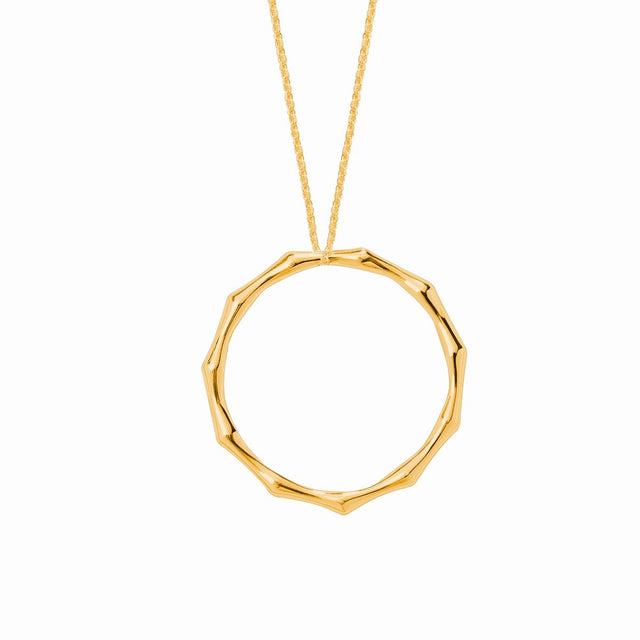 The Essential Bamboo Gold Plated Long Necklace