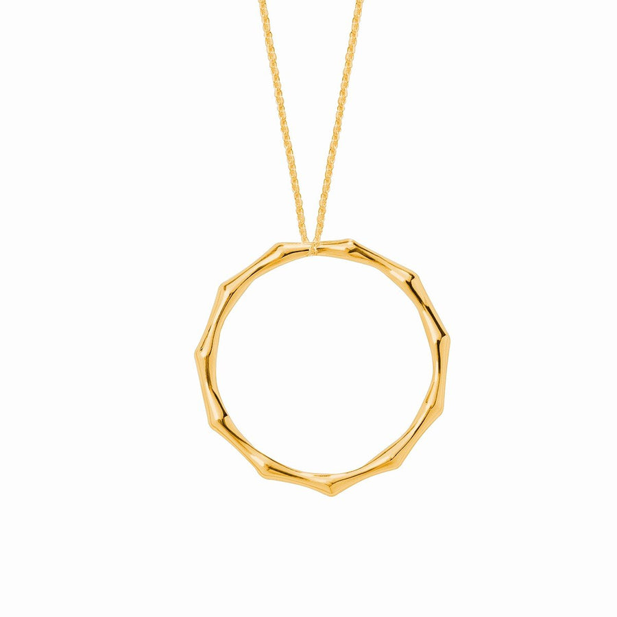 The Essential Bamboo Big 18K Gold Plated Silver 925° Necklace