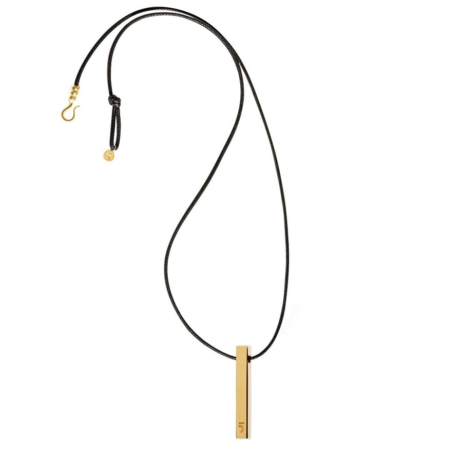 The Essential Rock 5Bar 18K Gold Plated Silver 925° Necklace