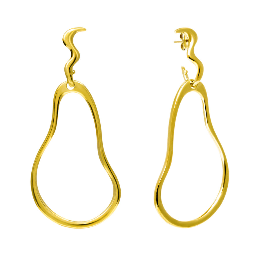 The Essential Forms Pear 18K Gold Plated Silver 925° Earrings