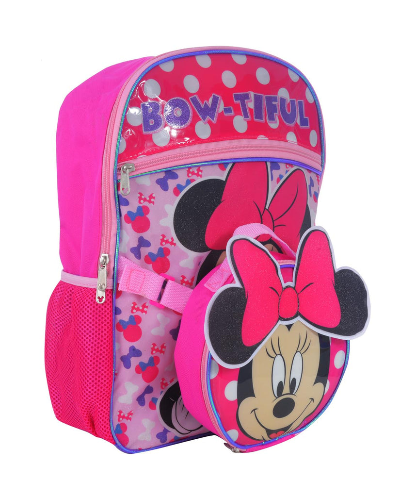 "DISNEY MINNIE MOUSE ""BOW-TIFUL"" BACKPACK & DETACHABLE LUNCH BAG SET"