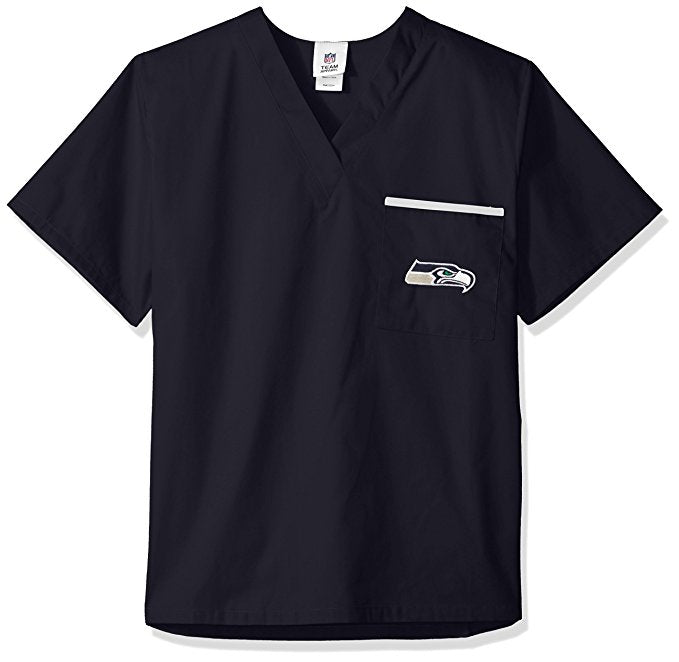 Officially Licensed NFL Unisex Solid Scrub Top