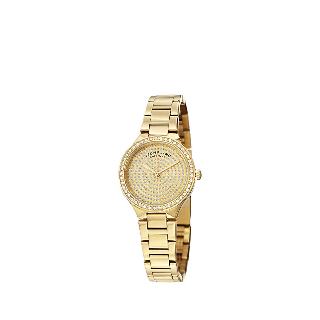 Stuhrling Original Women's 683.03 Symphony Swiss Quartz Crystal Dial Gold Watch