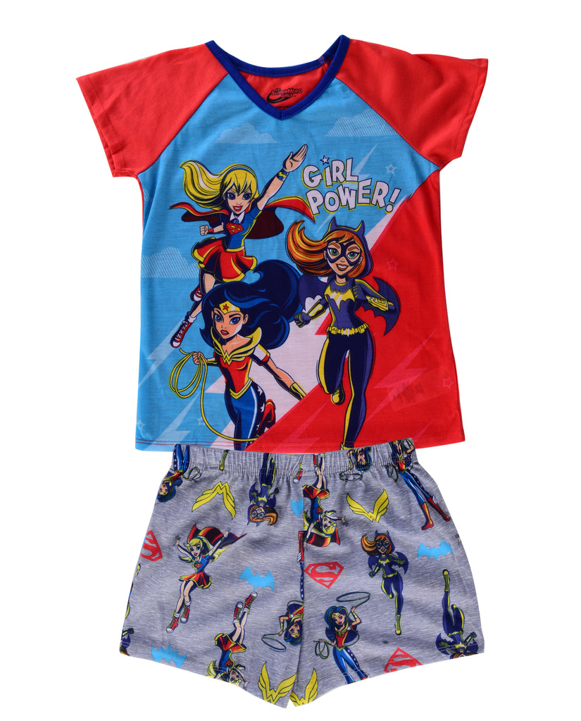 SUPERHERO GIRLS BIG GIRLS' PAJAMA SHORT SET